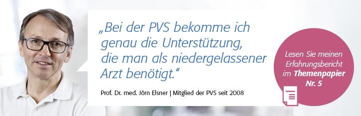 Testimonial von Prof. Dr. Elsner zum Forderungsmanagement der PVS