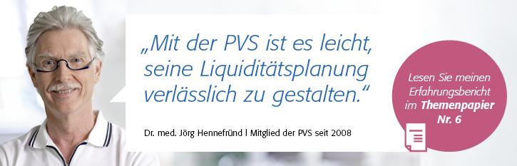 Testimonial von Dr. med. Jörg Hennefründ zur Liquiditätsplanung mit der PVS